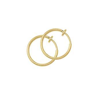 Eternal Collection Hoopla 17mm Gold Tone Clip On Hoop Earrings