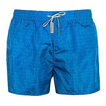 Dsquared2 men's blue all over print swim shorts