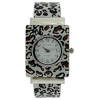 Zaza London Analogue Ladies-Girls Animal Print Plastic Bangle Style Dress Watch