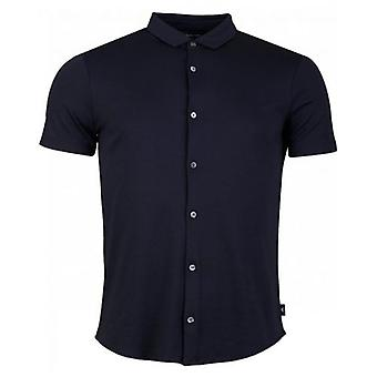 Armani Short Sleeved Slim Button Through Shirt