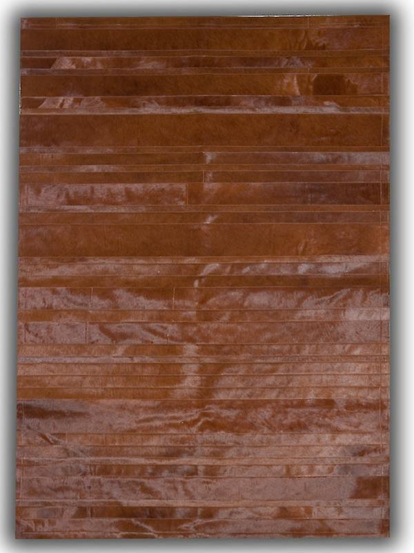 Rugs -Patchwork Leather Cowhide - ST9 Brown Stripes