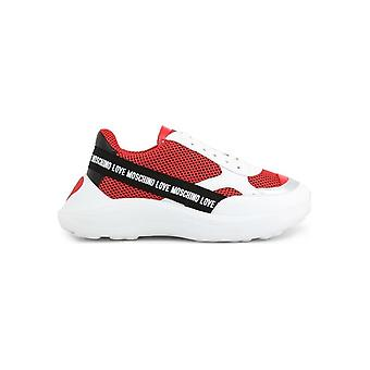 Love Moschino - Shoes - Sneakers - JA15086G1AIP_150A - Ladies - white,red - EU 36