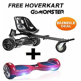 GoMonster Hoverkart avec 6.5'quot;Classic Red Bluetooth Hoverboard Segway