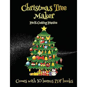 Pre K Cutting Practice (Christmas Tree Maker) - This book can be used