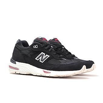 Nieuwe balans M991 Made In England Black Nubuck Trainers
