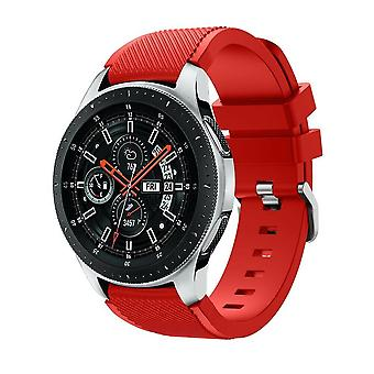 for Samsung Galaxy 42mm / 46mm Watch Wristband Bracelet Band Strap Silicone[46mm,Red]
