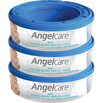 Angelcare Nappy Disposal System 3 Refill Cassettes