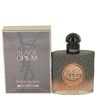Black Opium Floral Shock Eau De Parfum Spray By Yves Saint Laurent 1.7 oz Eau De Parfum Spray