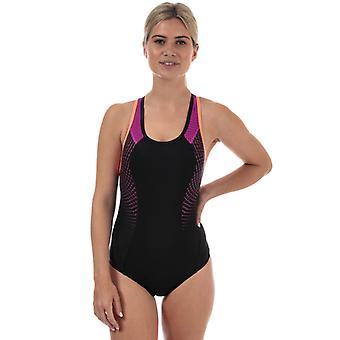 Frauen's Speedo Fit Pro Badeanzug in schwarz