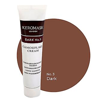 Keromask Full Cover Concealer Dark No 3 | Waterproof Camouflage Makeup | Hypoallergenic | 15ml