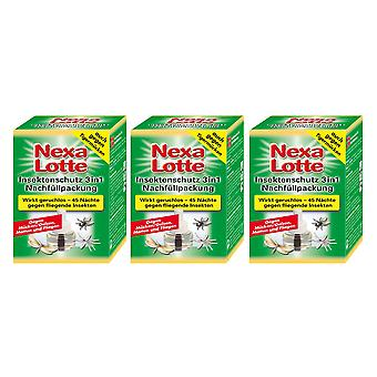 Sparset: 3 x NEXA LOTTE® insect plug 3in1, refill pack