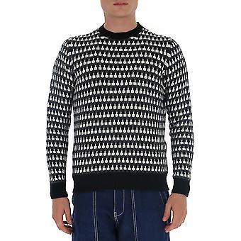 Prada Umb0941a8wf0n11 Männer's schwarze Wolle Pullover