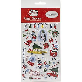 Carta Bella Merry Christmas Puffy Stickers
