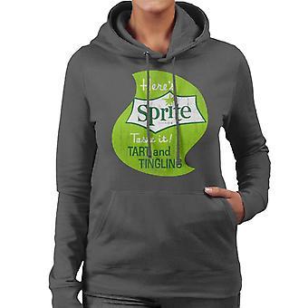 Heres Sprite Taste It 1960s Logo Women es Hooded Sweatshirt