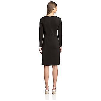 SOCIETY NEW YORK Women's F158 046-AZN Seam Detail Dress, Black, S
