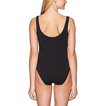 Brand - Mae Women's Scoop-Neck Bodysuit, Black, Small