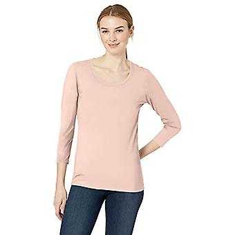 Brand - Daily Ritual Women's Stretch Supima 3/4-Sleeve Scoop Neck T-Sh...