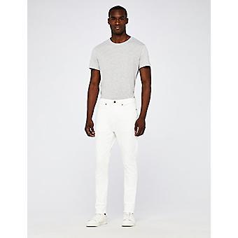 MERAKI Män's Standard Stretch Skinny Jeans, Vit, W36 x L30