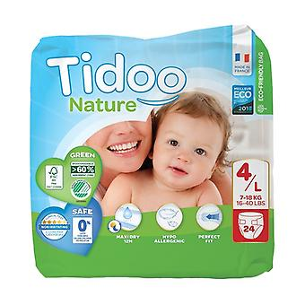 Diapers Size 4 L (7-18 kg) 24 units