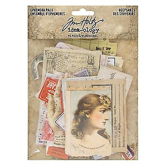 Idé-ologi Tim Holtz Ephemera Pack Keepsakes