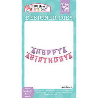 صدى بارك فتاة عيد ميلاد سعيد راية يموت