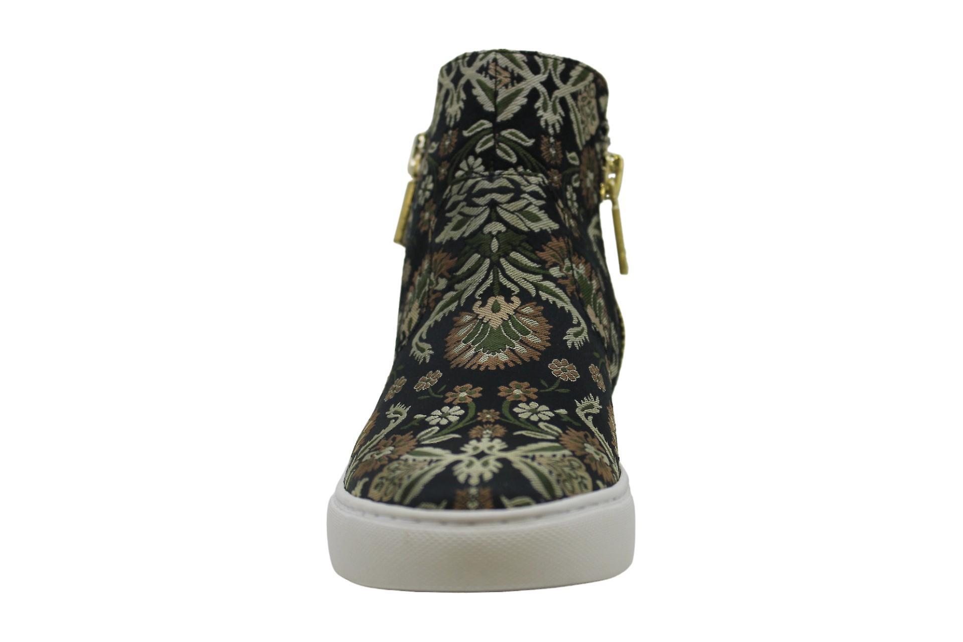 Kenneth Cole New York Women's Kiera Mid-Height Dual Side Zippers Sneaker
