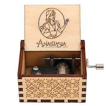 Geschnitzte handgefertigte Holz Anastasia Musik-Box für Weihnachten Geburtstag
