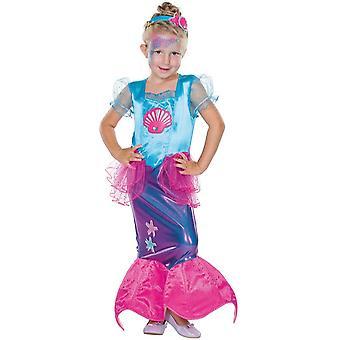 Kleine Meerjungfrau Kinder Fisch Meer Wassernixe Kostüm Nixe