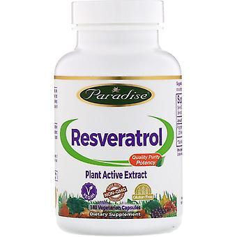 Paradise Herbs, Resvératrol, 180 capsules végétariennes