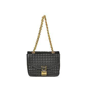 Céline Ezgl076051 Women's Black Leather Shoulder Bag
