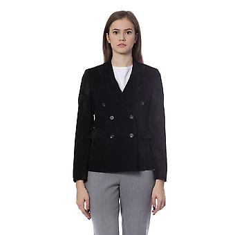 Peserico Nero Jackets & Coat PE854372-IT46-L