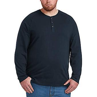 Essentials Men & apos&s Big & Tall طويل الأكمام قميص هنلي قميص, -Navy, 3XL