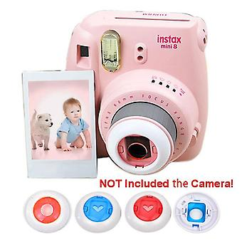 Instax Mini 8 7s 8+ Kitty Instant Camera Filtres colorés, Forme ronde / coeur