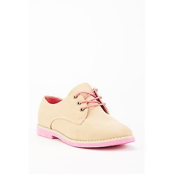Schnürung Suedette Oxford Schuhe 683526