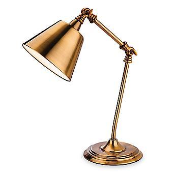 1 Lichte tafellamp antiek goud, E14