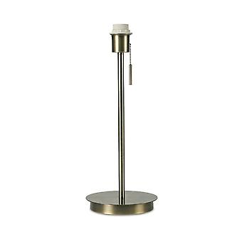 Inspired Deco - Carlton - Round Flat Base Large Table Lamp without Shade, Switched Lampholder, 1 Light E27 Antique Brass