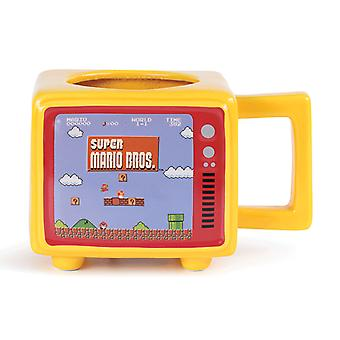 Super Mario Retro TV Heat Changing 3D Mug
