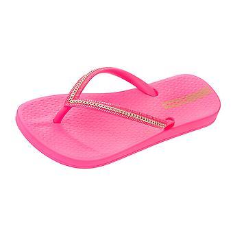 Girls Ipanema Flip Flops Anatomica Metallica Kids Sandals - Pink