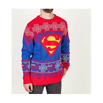 Superman Unisex Adult Truth Logo Jumper de Natal