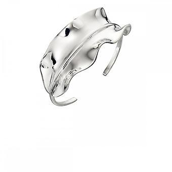 Elements Silver Plain Silver Ruffle Bangle B5009
