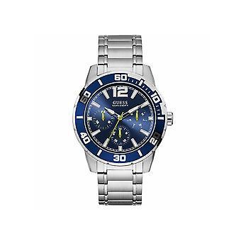 Guess W1249G2 Trek Quarz blau Zifferblatt Edelstahl Herren's Uhr