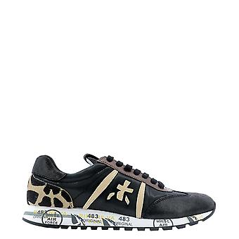 Premiata Lucyd4078 Women's Black Leather Sneakers