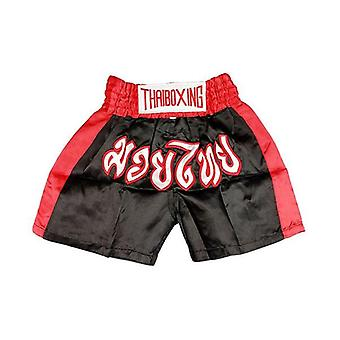 Kid Boxing Short Trunks Satin Black
