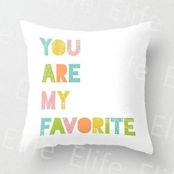 Cartoon Cartoon tryckt, Square Pillow Covers
