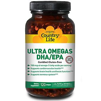Country Life Ultra Omega's DHA/ EPA, 120 Sftgls