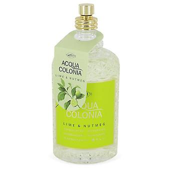 4711 Acqua Colonia Lime & Nootmuskaat Eau De Cologne Spray (Tester) Door 4711 5.7 oz Eau De Cologne Spray