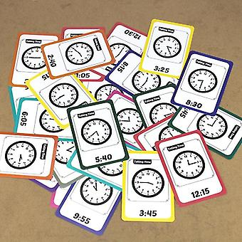 Baby Learning Time/alarm Clock, Life Management Montessori Flash Cards