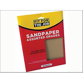 Rodo Fit for the Job Sandpaper 23 x 28cm Assorted x 10 FFJASP10A