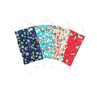 Mio Christmas Overload Cotton 4 Pack Face Mask