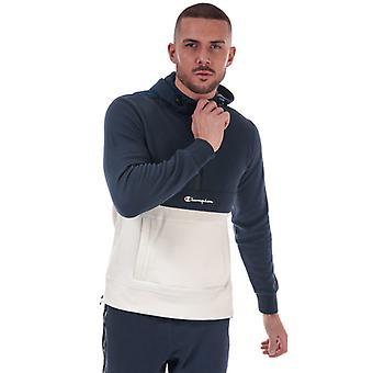 Men's Champion Half Zip Sweatshirt en bleu